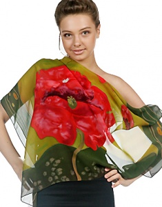Hand Painted Silk Scarves for Women
