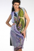 Silk Blouse Tropical Monstera