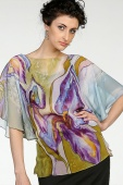 Silk Blouse Green Iris