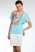 Silk Blouse Azure Shore 2