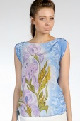 Silk Blouse Summer Dreamland