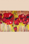 Silk Painting- Poppies Dream