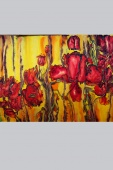 Silk Painting- Field of Beautiful Poppies