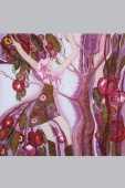 Silk Painting- Winter Cherry Tree
