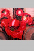 Silk Painting- Filed of Poppies Shining 2