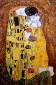 Silk Painting Gustav Klimt The Kiss