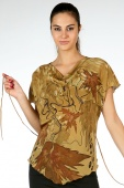 Silk Blouse Waltz of Maple Leaves