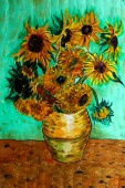 Silk Painting- Sunflowers