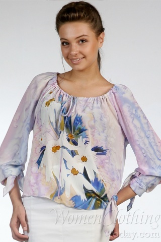 Silk Blouse Flower Glade
