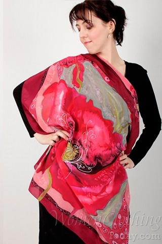 Silk Scarf Passion Spark