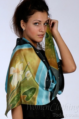 Silk Scarf The Lotus