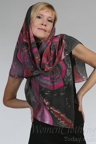Silk Scarf The Roads of Universe