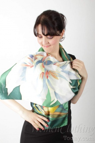 Silk Scarf The Spring