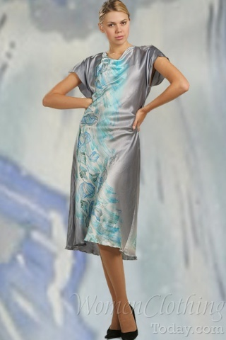 Silk Dress Snow Maiden Beauty