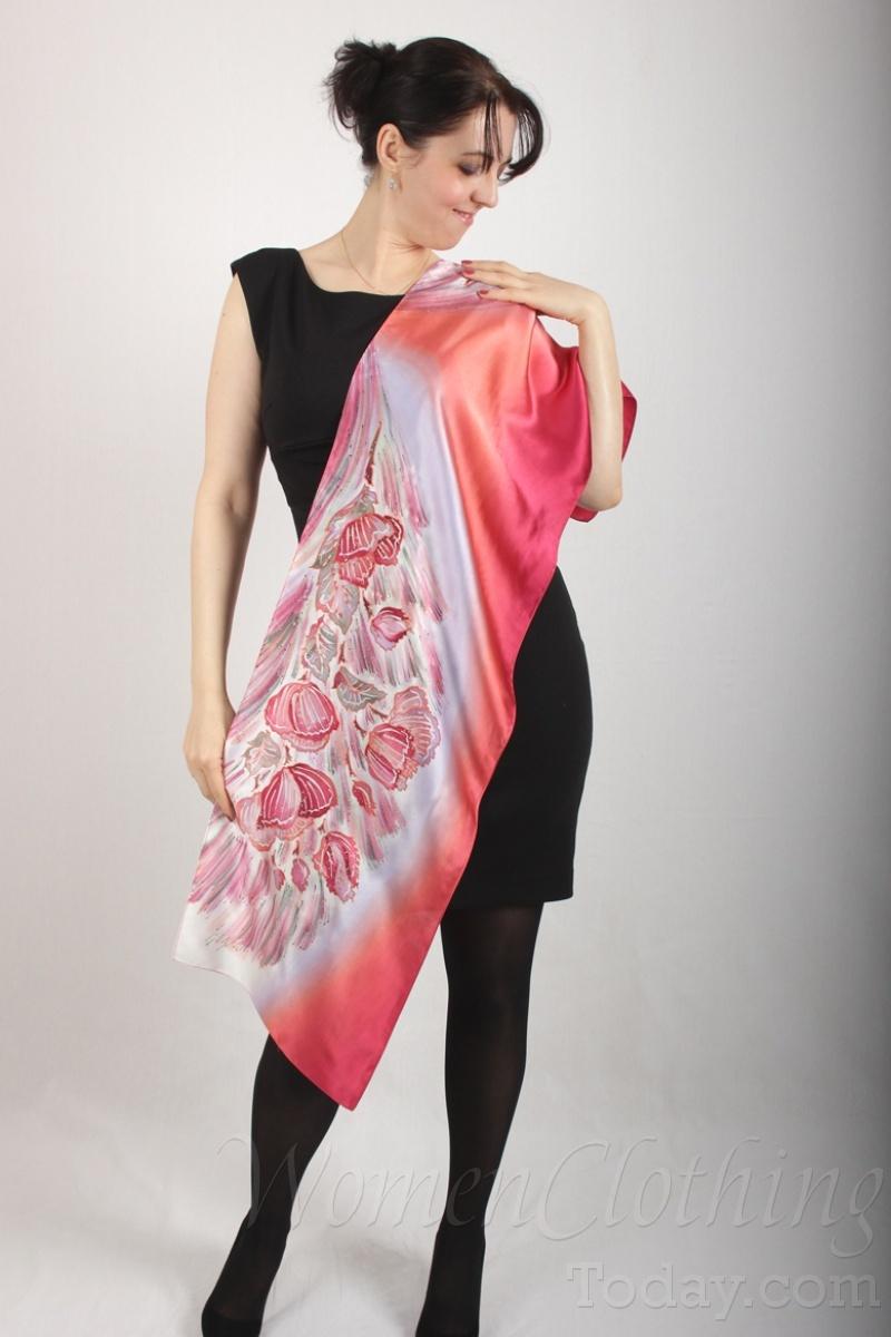 silk scarf pink mirage 2
