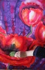 Silk Painting Poppies at Night