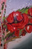 Silk Painting- Poppies Symphony