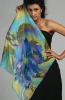 Silk Scarf Blue Cornflower
