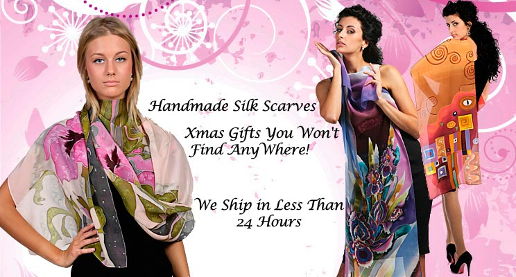 Hand Made Silk Scarves and Blouses